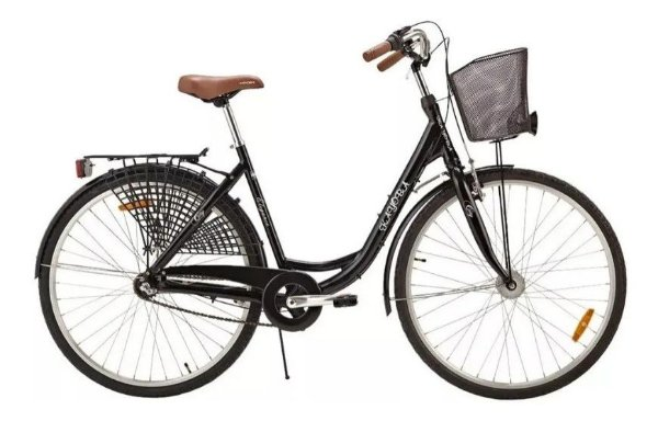 Bicicleta Kayoba City Elegance svart aro 700 nexus 3 Preto