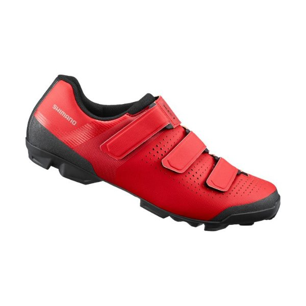 Sapatilha Shimano XC1 SH-XC100 3 Velcros Vermelho Tam 43BR