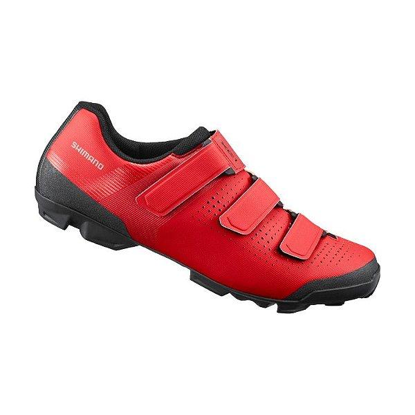 Sapatilha Shimano XC1 SH-XC100 3 Velcros Vermelho Tam 40BR