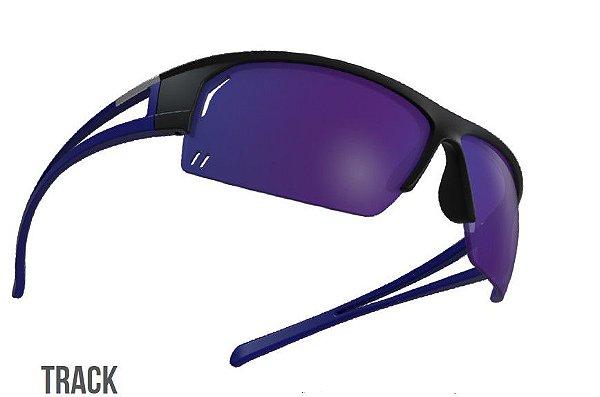 Oculos de sol HB Track Preto Azul Chrome