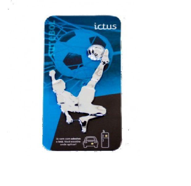 Adesivo para Carro Ictus Futebol Cromado Emblema