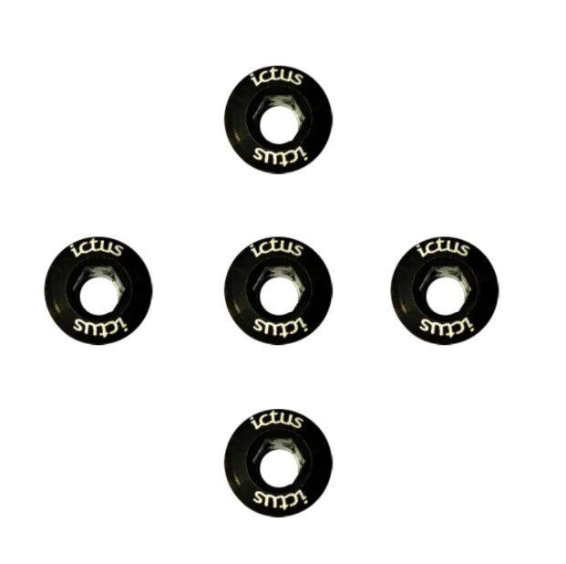 Parafuso de Coroa Ictus Kit com 5 parafusos Preto