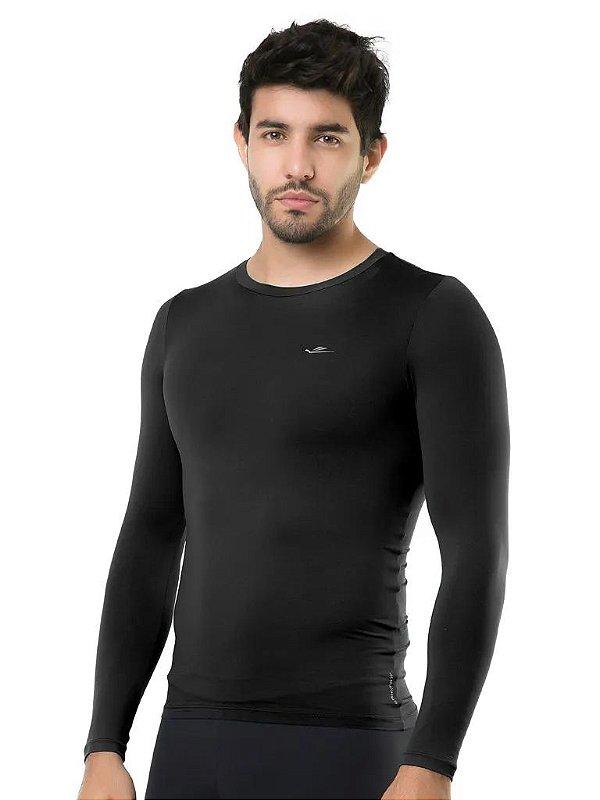 Camiseta Termica Elite Segunda Pele Slim Fit Preto Tam M