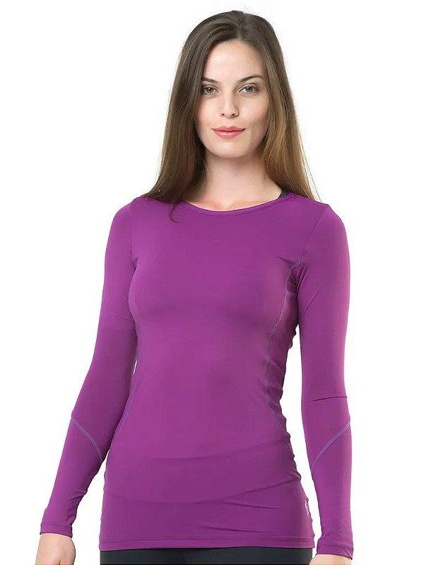Camiseta Termica Elite Segunda Pele Woman FIT Cor Uva Tam GG