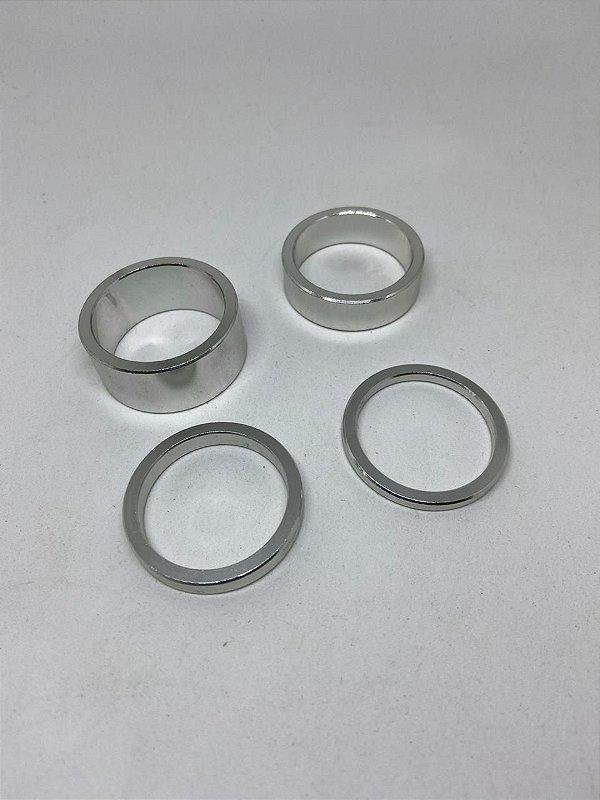 Espaçador de Direção A2Z em Aluminio Prata 3-5-10-15mm