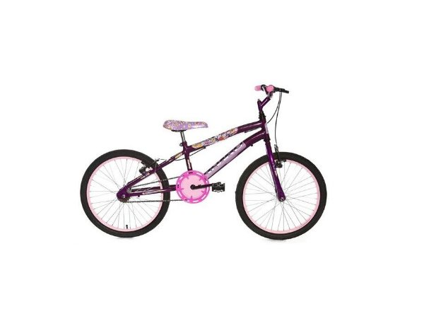 Bicicleta Infantil Rharu Aro 20 sem Marcha Violeta Flower