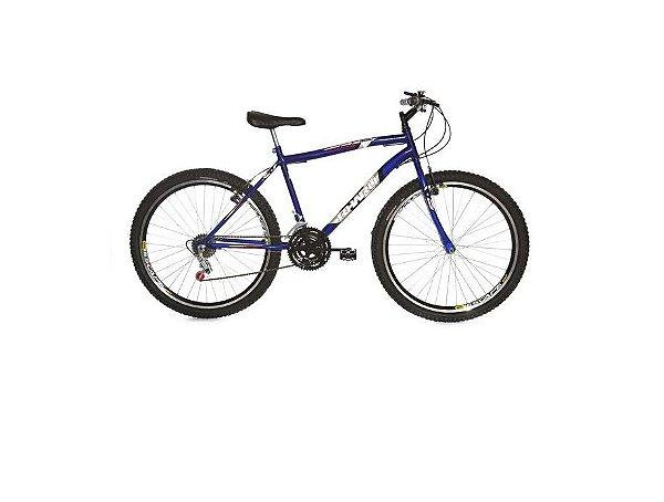 Bicicleta Rharu Combate aro 26  em Aço 18 V Azul