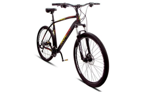Bicicleta Akron Kiron 29 21 V Disco Preto Amarelo Tam 17