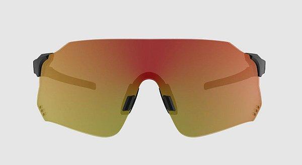 Óculos De Sol Hb Quad X Matte Black Red Chrome