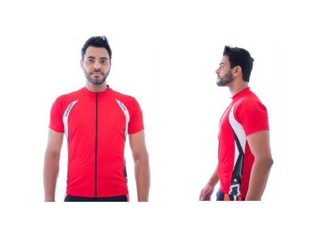 Camisa de Ciclismo Elite Masculina Vermelho Grafite Tam GG