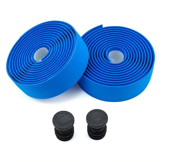 Fita De Guidão Pro (shimano) Eva Com Silicone Azul Speed