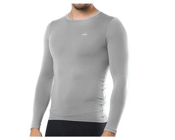 Camiseta Termica Elite Segunda Pele Slim Fit Cinza Tam M