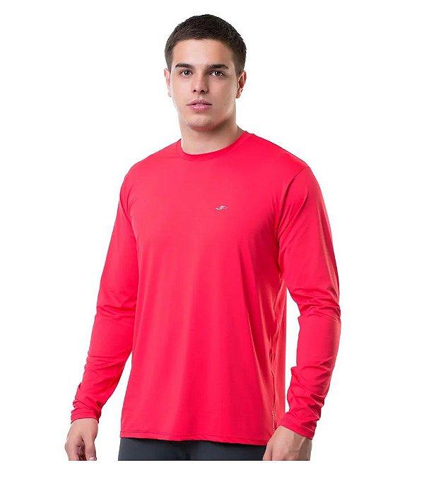 Camiseta Termica Confort Fit Summer Sun UV 50 Vermelho Tam M