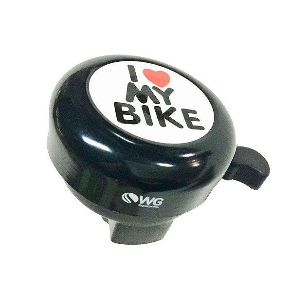 Campainha WG Sininho Trin Trin I Love Bike Preto