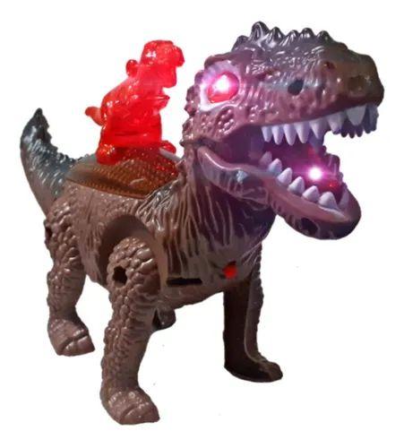 Dinossauro Tiranossauro Rex Anda Luz Som Super Oferta