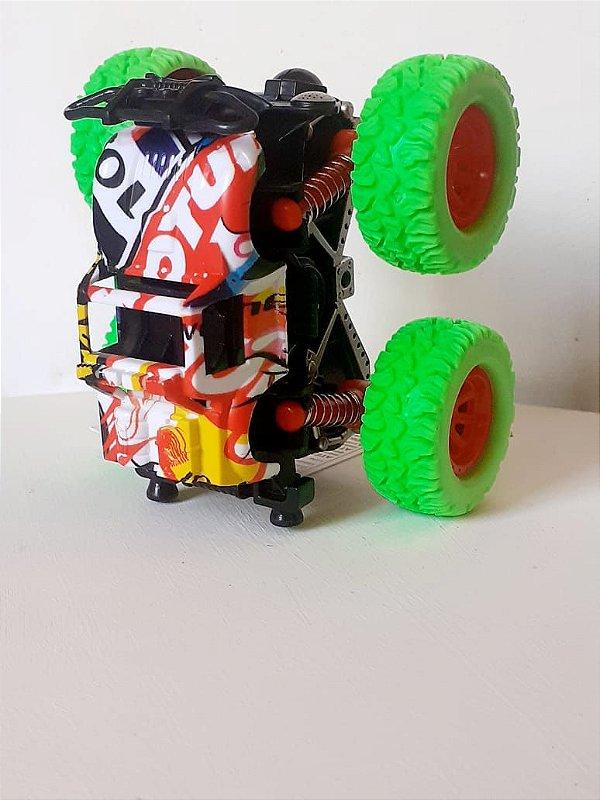 Carrinho Monster Truck Carro Gira  360 Graus  Lançando Inércia Potência 4x4  Suv  Blazer Carro Brinquedos Para Crianças