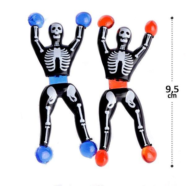Boneco Gruda e Desce na Parede 2 Pecas Esqueleto