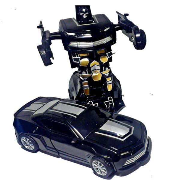 Carro Camaro Preto  Carrinho Bate e Transforma em  Robô