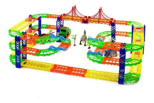 Pista Dinossauro Track + Carrinho Infantil 113 Peças