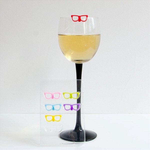 Marcador de Drink 6 Pcs Oculos Colors