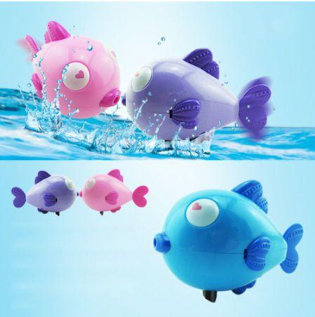 Brinquedos Infantis De Banho Peixinho   / Peixinho Para Bebês / Brinquedos De Banho / Brincar Na Água Roxo