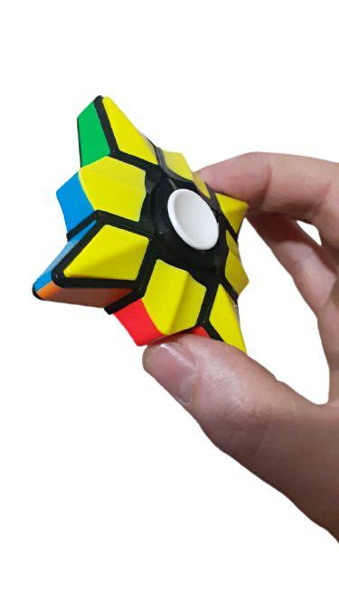 Cubo Magico Hand Spinner  2 em 1 Fidget Toy  Ansiedade Anti Estress