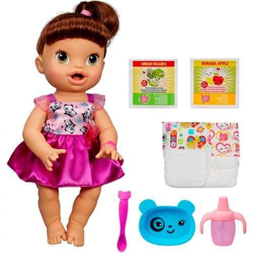 d7ffa25efe Boneca Baby Alive Hora de Comer Morena - Hasbro