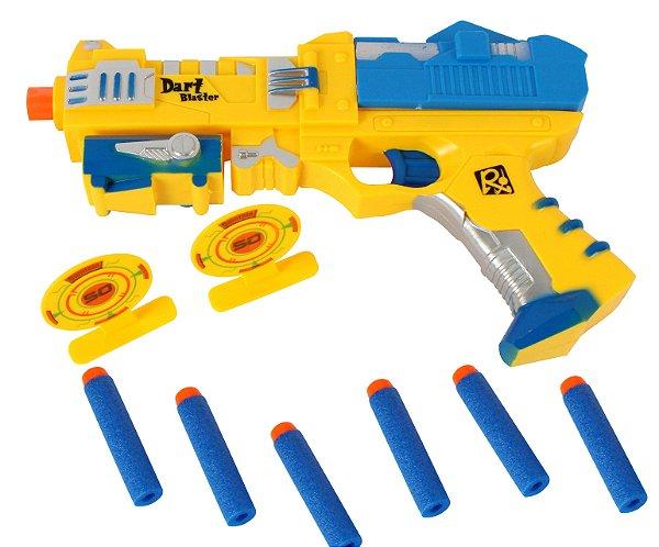 Lançador  Arma Pistola Atira Dardos Com 2 Alvos