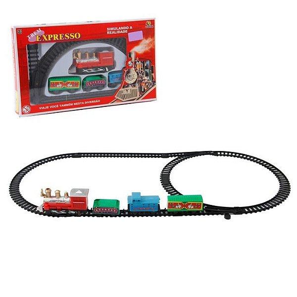 Trem Locomotiva Expresso Brinquedo Presente Criança