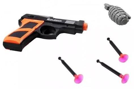 Arma De Brinquedo Lançador De Dardos Granada