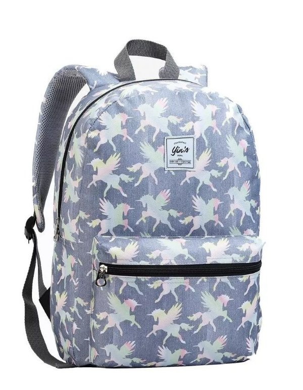 Mochila Escolar Feminina Unicornio Flamingo Seanite Mj14047