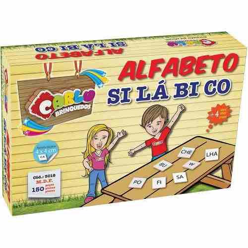 Brinquedo Educativo Pedagógico Madeira Alfabeto Silábico