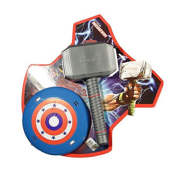 Martelo Com Escudo P/meninos Heróis Brinquedo Infantil