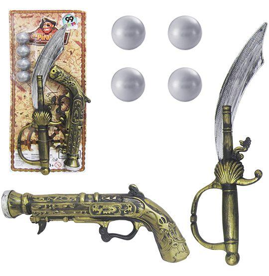 KIT Pirata  Pistola espada  armas de pirata  fantasia