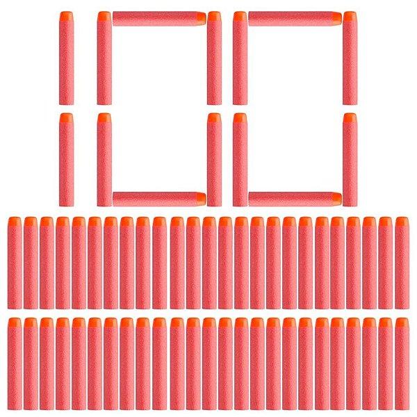 Refil Munição Dardos Nerf Cores Kit 100 Unidades Bala