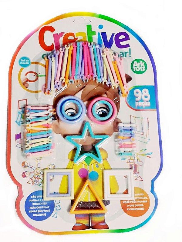 Brinquedo Educativo Formas de  Montar Com 98 Peças Creative