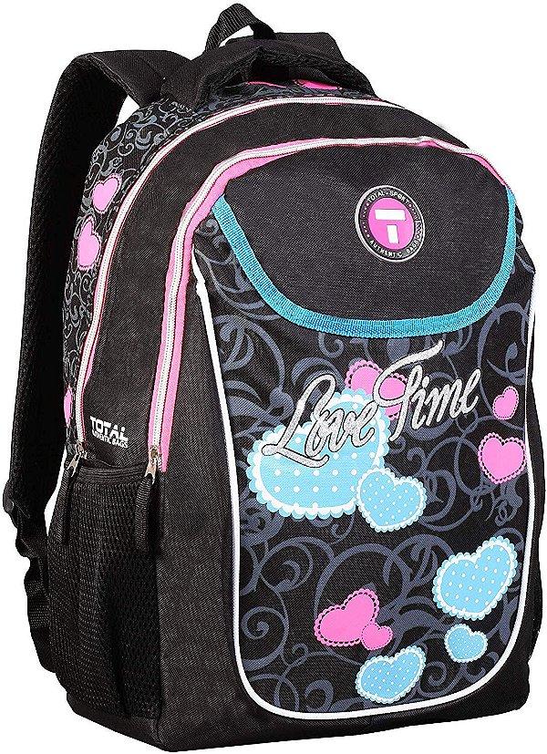 Mochila Escolar Feminina Costas Love Time  Authentic Bags