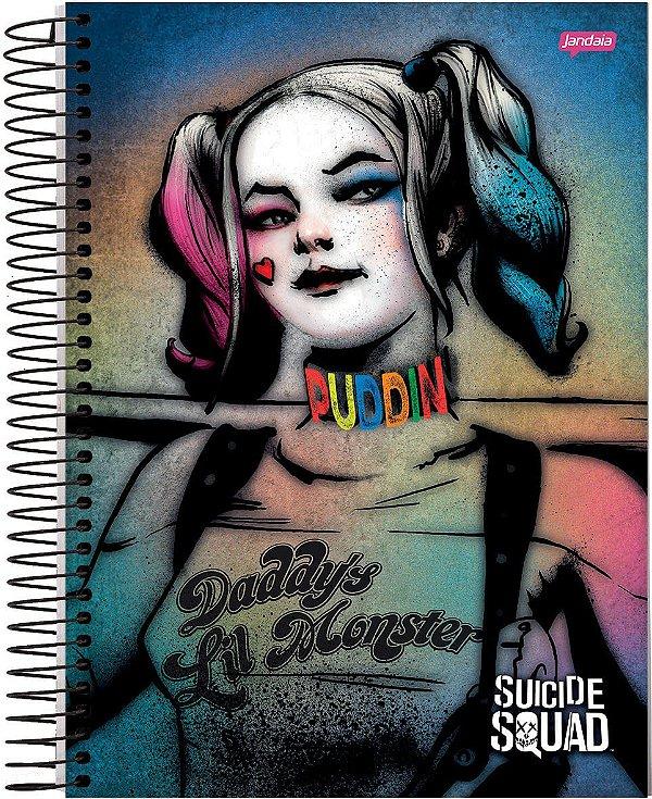 Caderno Arlequina 10 Materias Harley Quinn  DC Comics