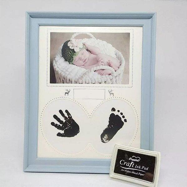 Porta Retrato De Recém Nascido  Baby Com Carimbo