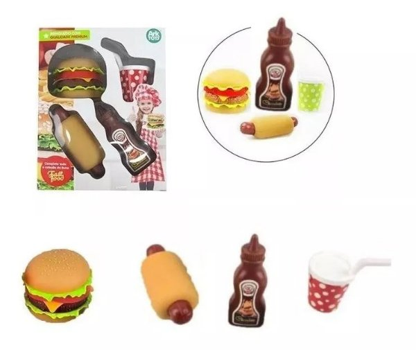 Hora Do Lanche Fast Food Comida De Brinquedo