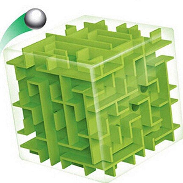 Cubo Mágico Labirinto 3d Puzzle Educativo - verde