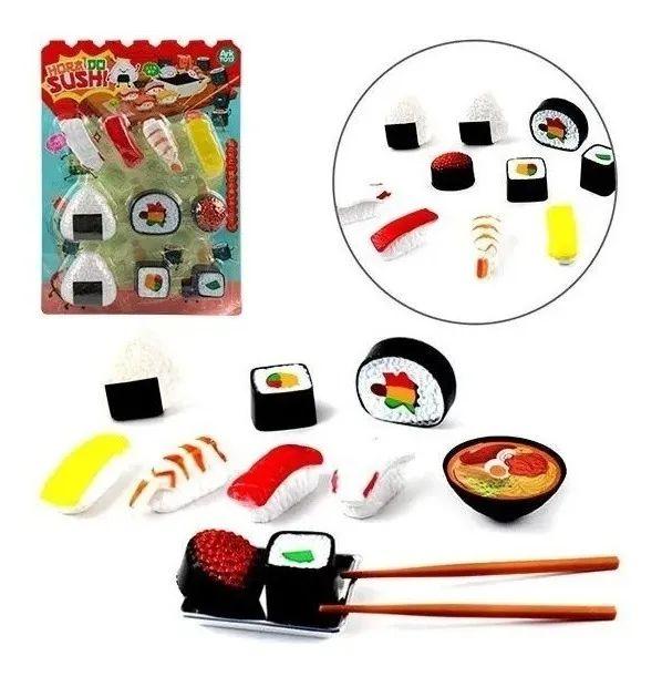 Comida Japonesa Infantil Hora Do Sushi Brinquedo Cozinha