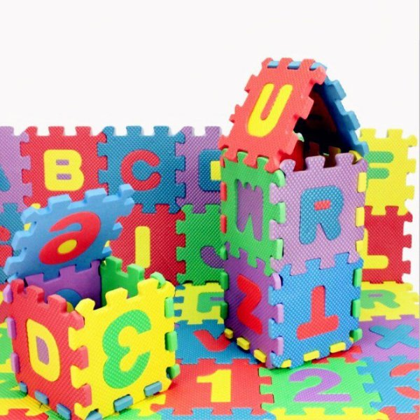 Tapete Eva Educativo 36 Pçs Abc Número Alfabeto 9x9cm