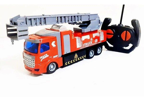 Caminhão De Bombeiro Com Escada Controle Remoto