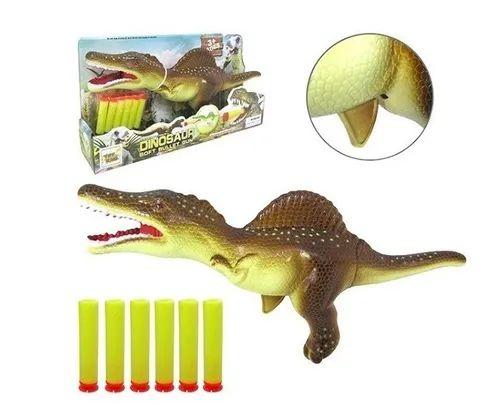Dinossauro Lança Dardo Com 6 Dardos 32x16cm