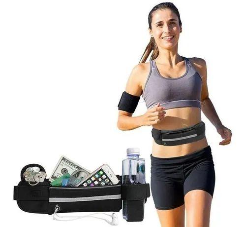 Pochete Fitness Cinto Corrida Exercícios Bolsa Impermeável