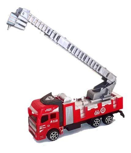 Carrinho Caminhão Resgate Bombeiro Escada  Extensível Articulada