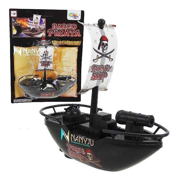 Barco Navio Pirata Brinquedo flutuante a Pilha