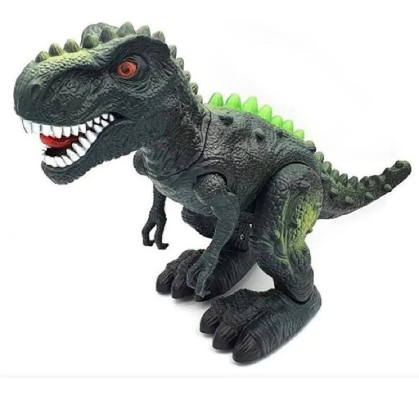 Dinossauro Tiranossauro Rex Grande 32 Cm Com Som Luz E Anda