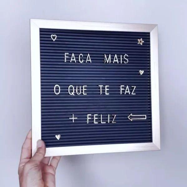 Quadro Letter Board Decorativo Dourado Letreiro 23,5x30,5